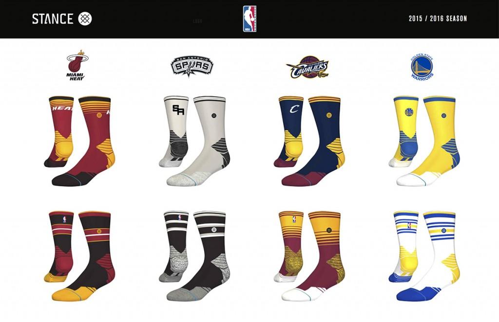 Stance NBA Team Sock Designs