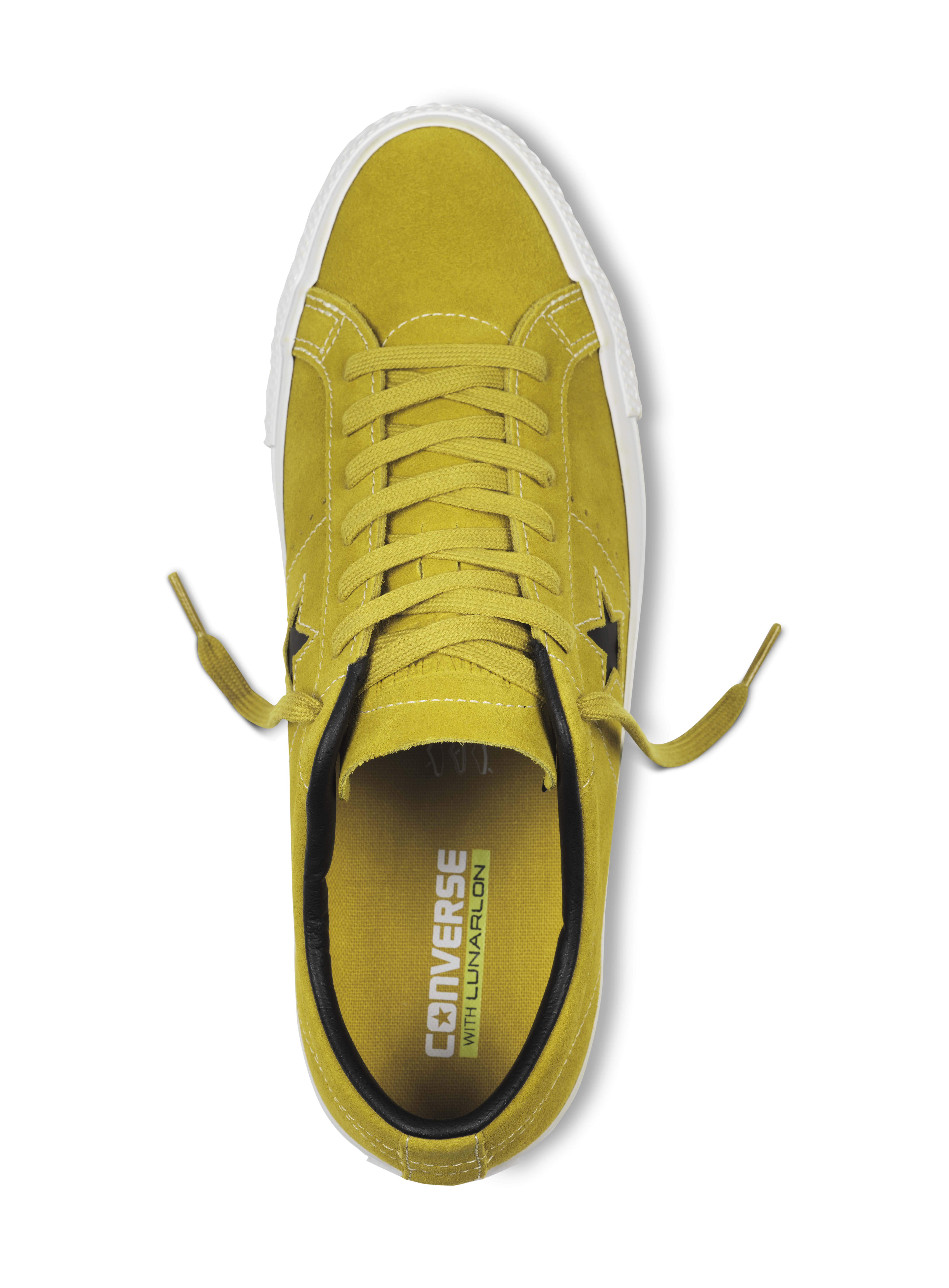 converse one star pro yellow bird